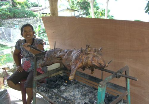 Mouth-watering Suckling Pig on a Spit
