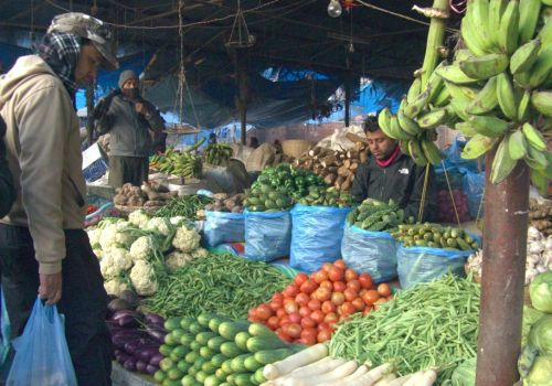 Kathmandu's Outdoor Food Market