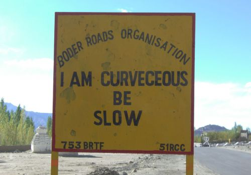 Curvaceous sign