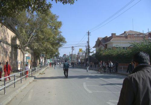 The Empty Streets of Kathmandu