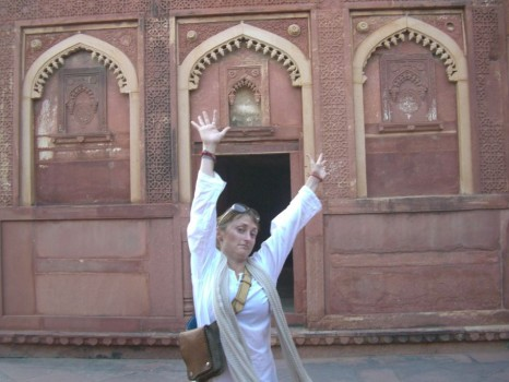 Jaime at the Red Fort in Agra, India - click on the image to send her an email
