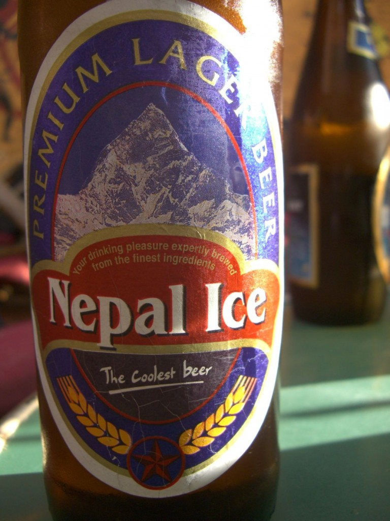 nepal ice beer portrait