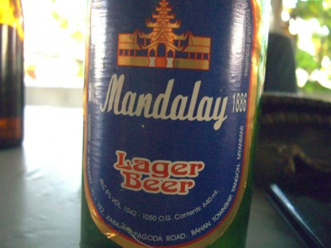 mandalay beer label