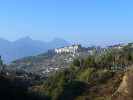 Tawang Gompa - View from Tawang