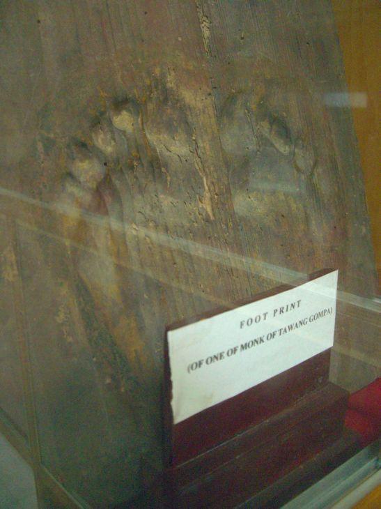 Tawang Gompa monk feet impression