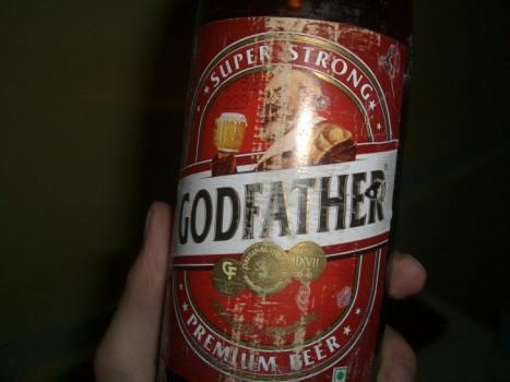godfather beer label